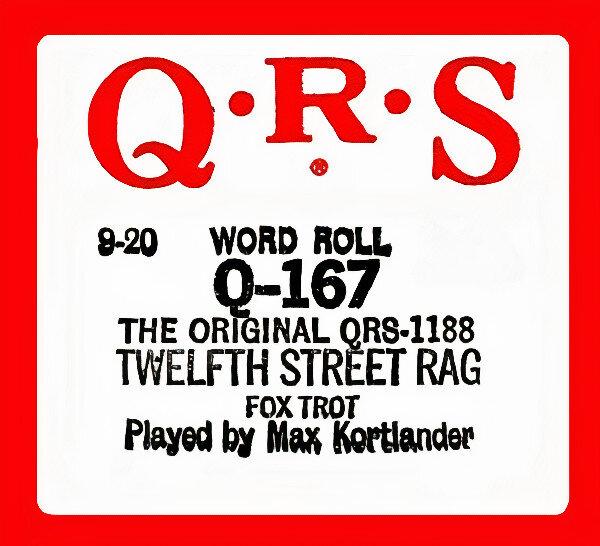 12th Street Rag Piano Roll