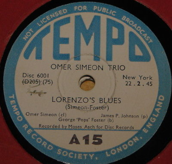 Omer Simeon Trio (The Carnival Three)
