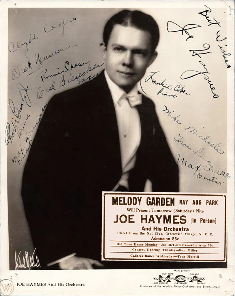 Joe Haymes Advertisement