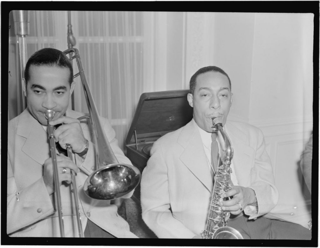 Johnny Hodges and Lawrence Brown