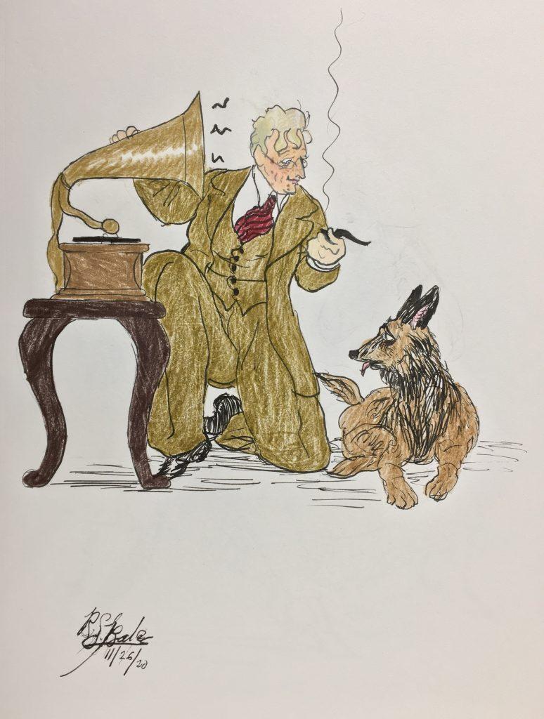 Justin Ring and his German Shepherd