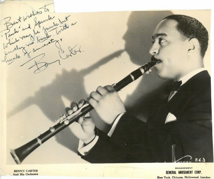 Benny Carter playing Clarinet
