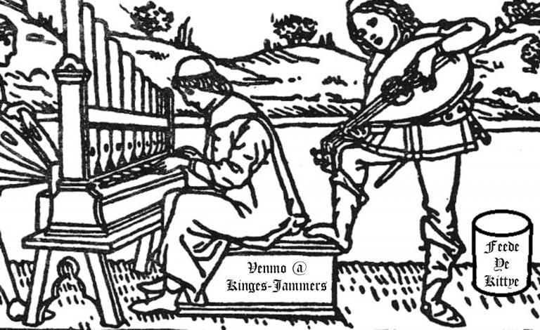 medieval musicians Feede ye Kittye