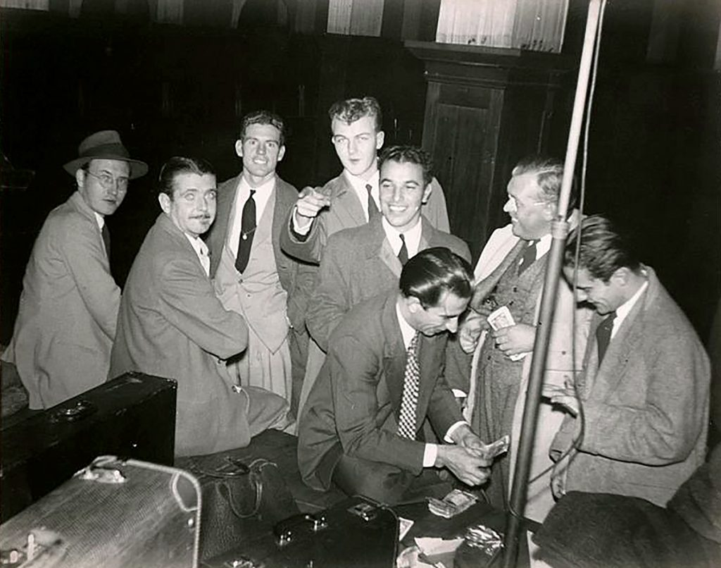 Boys in the band; Bunny Berigan is second from left.