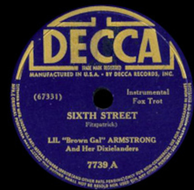 Decca-7739A Lil Brown Gal Armstrong and her Dixielanders