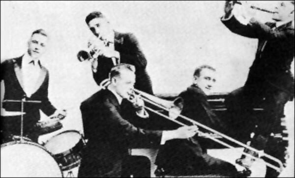 Jimmy Durantes Original New Orleans Jazz Band - 1917
