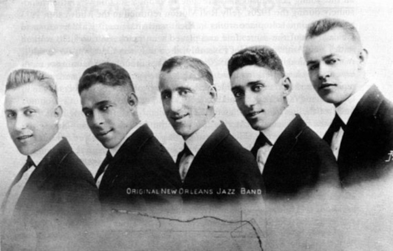 Jimmy Durantes Original New Orleans Jazz Band. 1917
