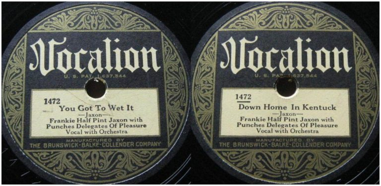 "Frankie ""Half Pint"" Jaxon acc. by Punches Delegates of Pleasure"