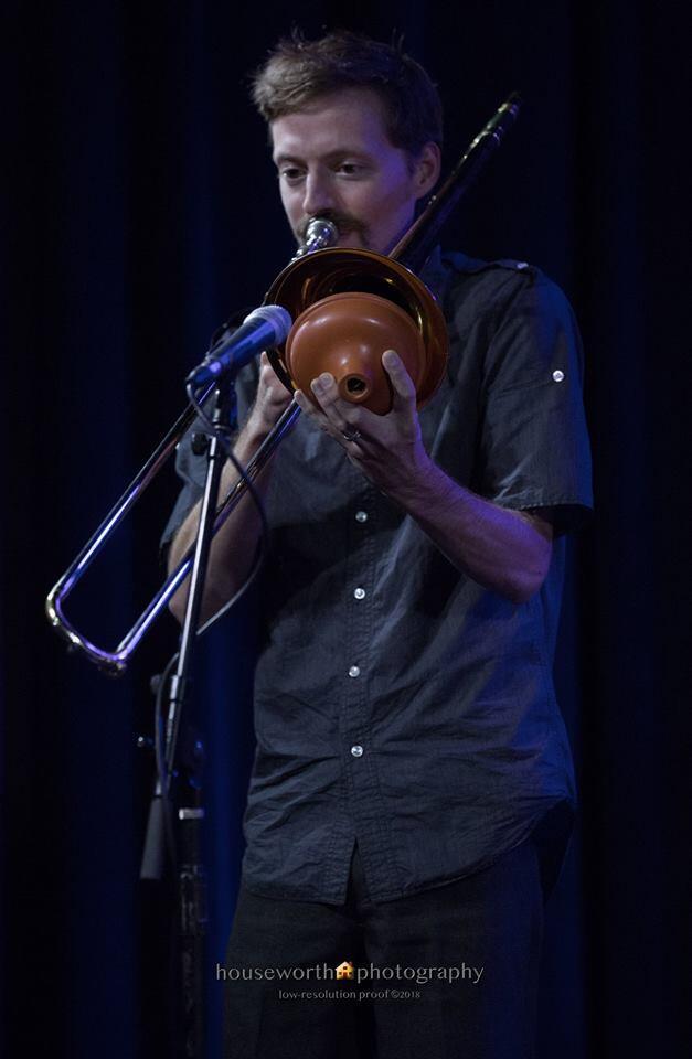 Eric Heveron-Smith on trombone