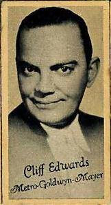 Cliff Edwards Movie Card