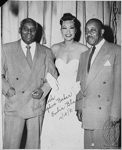 Noble Sissle, Josephine Baker, Eubie Blake, Oct. 1951