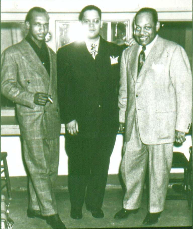 Oscar Pettiford, Joe St. John-Norris, Coleman Hawkins.