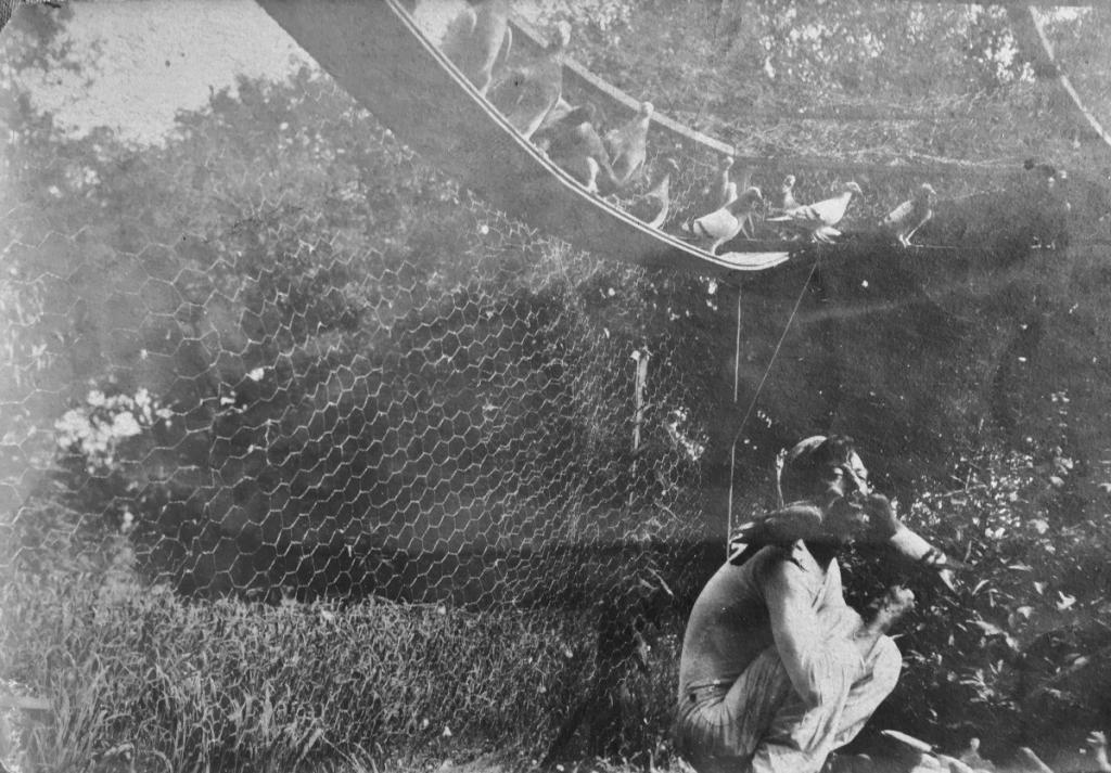Carson and birdies c.1910