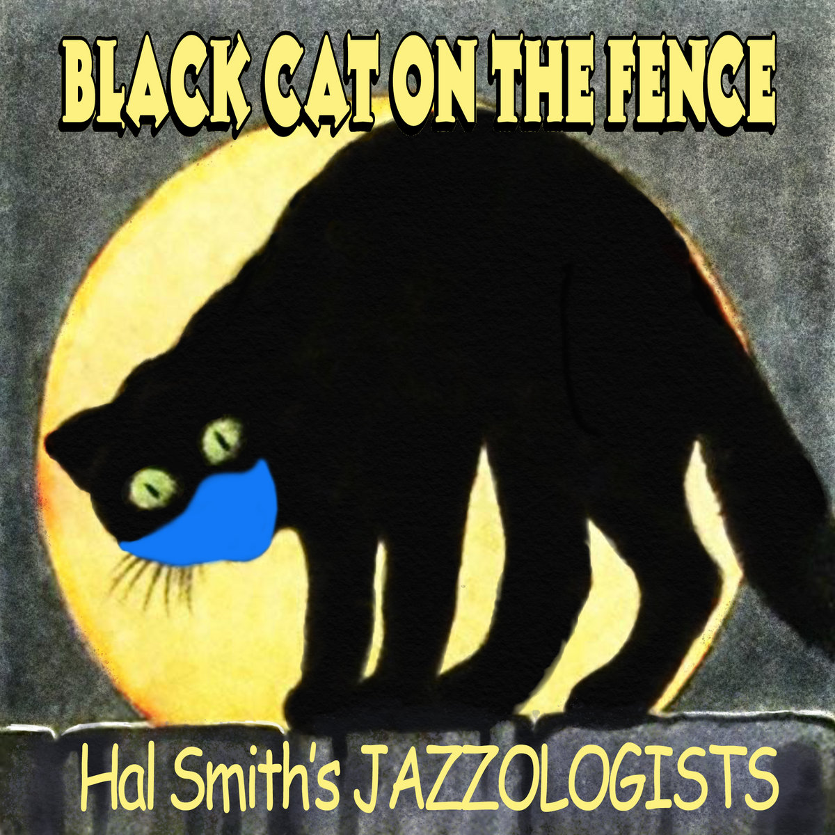 Hal Smith Black Cat on a Fence