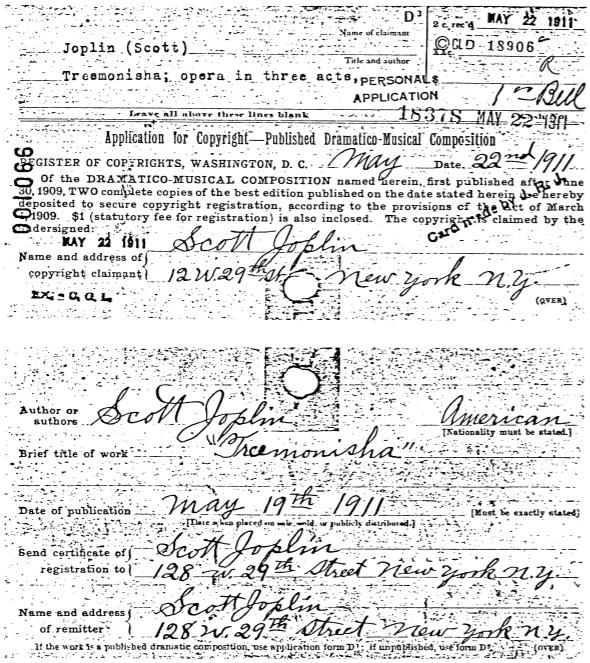 Scott Joplin Autographs