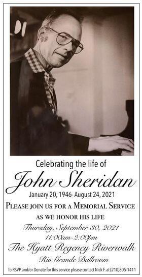 R.I.P. John Sheridan: Master Musician and Arranger