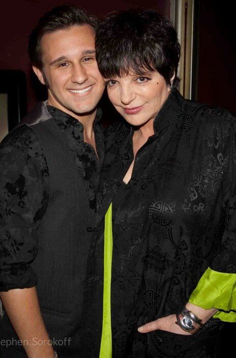 Nicolas King with his friend and mentor Liza Minnelli