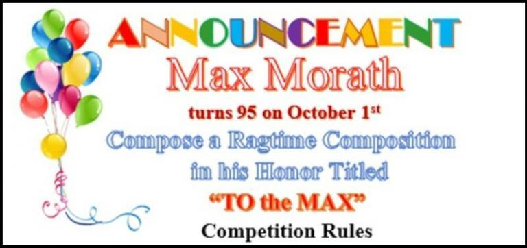 Max Morath new ragtime composition contest rules
