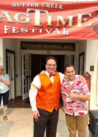 Ragtime master Paul Orsi and multi-instrumentalist Matt Tolentino.