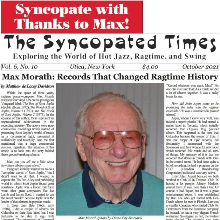 Max Morath: Records That Changed Ragtime History
