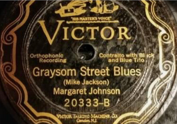Margaret Johnson acc. by the Black and Blue Trio