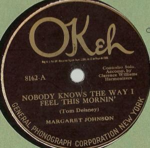 Margaret Johnson acc. by Clarence Williams' Harmonizers